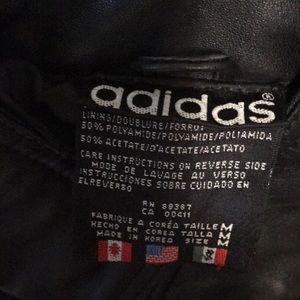 adidas Jackets & Coats - Adidas LEATHER track jacket WOW